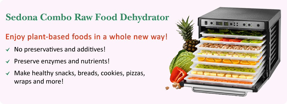 The new 2014 Sedona Combo Dehydrator - healthy living snacks  & gourmet raw food